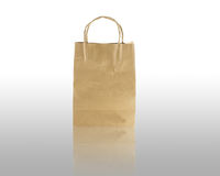 Brown bag paper. For package Stock Images