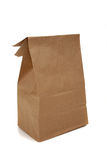 Brown bag on  white background. A brown bag for a sack lunch on a white background Stock Photos