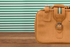 Brown baggage Royalty Free Stock Photography