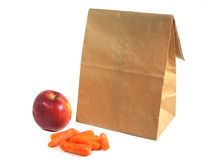 Brown Bagging Royalty Free Stock Photo
