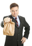 Brown Bagging it to Work Royalty Free Stock Images