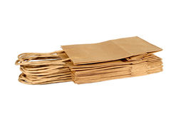 Brown Bags Stacked Stock Photo