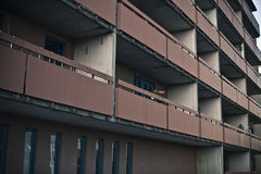 Brown balconies Stock Image