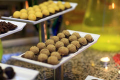 Brown ball cakes Royalty Free Stock Images