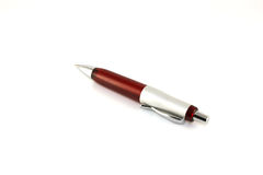 Brown ball-point pen Royalty Free Stock Photo