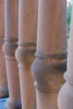Brown balustrada Obrazy Stock