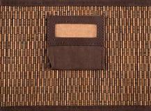 Brown bamboo box. Close up of a brown bamboo box Royalty Free Stock Image