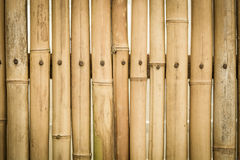 Brown bamboo fence texture Royalty Free Stock Photos