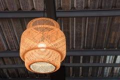 Brown bamboo lamp Stock Photos