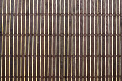 Brown bamboo mat Stock Photography