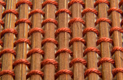 Brown bamboo skewer with string texture Royalty Free Stock Image