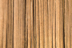 Brown bamboo strip fence texture background Royalty Free Stock Images
