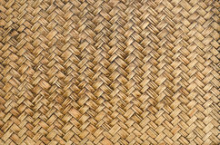 Brown bamboo woven  background Stock Photo