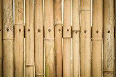 Brown-Bambuszaunbeschaffenheit Lizenzfreie Stockfotos