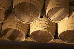 brown barrel drewniany Zdjęcia Stock