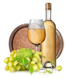 Brown barrel and wine Stock Image