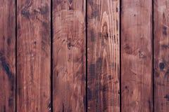 Brown, barrière de conseil en bois Panneaux en bois de vintage foncé Milieux et barrière de textures peinte Front View Attirez a Photographie stock