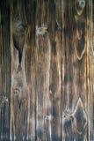 Brown, barrière de conseil en bois Panneaux en bois de vintage foncé Milieux et barrière de textures peinte Front View Attirez a Image libre de droits