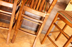 Brown barstools Royalty Free Stock Images