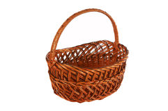 Brown basket Royalty Free Stock Image