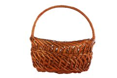 Brown basket Royalty Free Stock Photo