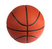 Brown basket-ball ball. On the white background stock photography