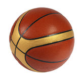 Brown basket-ball ball. On the white background Stock Images
