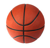 Brown basket-ball ball on the white background Stock Photo