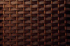 Brown basket weaving wood background royalty free stock image