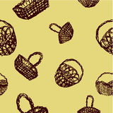 Brown baskets pattern Royalty Free Stock Photography
