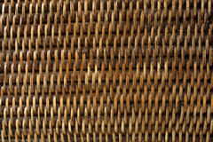 Brown basketwork lacquered bamboo wicker Royalty Free Stock Images