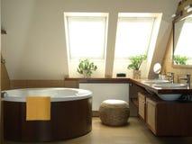 Brown bathroom Royalty Free Stock Image