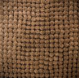 Brown bathroom carpet Royalty Free Stock Photography