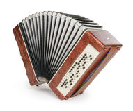 Brown bayan (accordion) Royalty Free Stock Photos