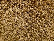 Brown, beż, dywanowa podłoga, puszysta wełna, tekstura, tło Obraz Stock