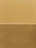 Brown, beżowa tkaniny tekstura prostacki obrazy stock