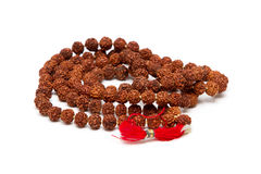 Brown beads Stock Image