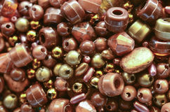 Brown beads. Abstract background of brown beads Royalty Free Stock Photography
