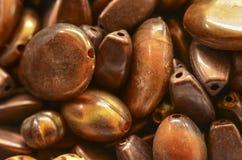Brown beads Stock Photos