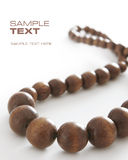 Brown beads Stock Photography
