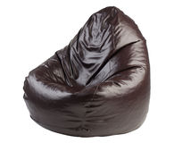 Brown beanbag chair Royalty Free Stock Images