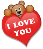 A brown bear. With heart Stock Photo