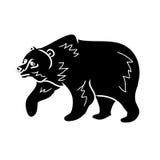 Brown bear - black silhouette 0 Stock Image
