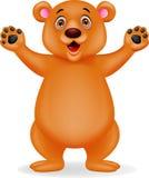 Brown bear cartoon Stock Images
