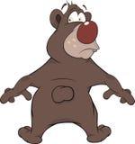 Brown Bear. Cartoon Stock Image