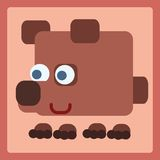 Brown bear cartoon icon. Brown stylized bear cartoon icon. Baby style stock illustration