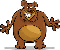 Brown bear cartoon illustration Stock Photography
