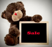 Brown Bear Chalkboard Stock Images