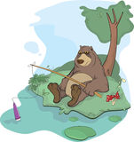 Brown bear on a glade Stock Photo