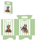 A brown bear. Handbags packages pattern Stock Photos